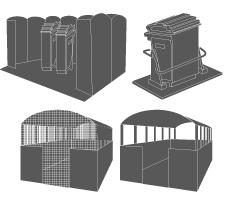 Abri-poubelles Parcs
